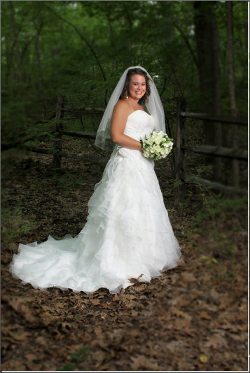Outdoor bridal photographer