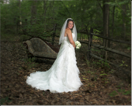 Outdoor bridal photography
